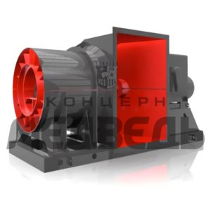 Reverse axial single-stage fans ВО-ДР